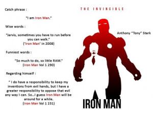 Iron Man AKA Tony Stark's quotes