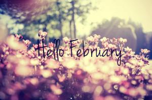 Linda imagen de fondo con frase Hello February