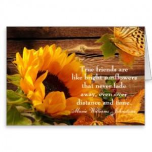 Friendship Birthday Card, Rustic Fall Sunflower by FallFancy
