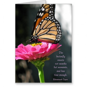 Butterfly Birthday Tagore Quote Card