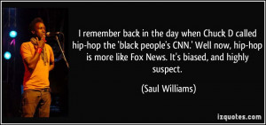 remember back in the day when Chuck D called hip-hop the 'black ...