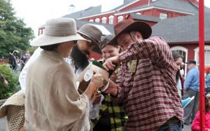 Teams participate in The Oregon Trail LIve II at the Willamette ...