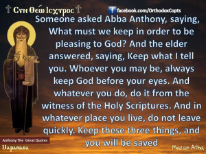 quote from abba anthony anthony the great someone asked abba anthony ...