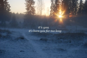 cute, light, long, love, quote, snow, sun, text, trees, you