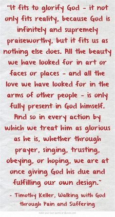 Christian Quotes Pain Suffering ~ Tim Keller Quotes on Pinterest | 82 ...