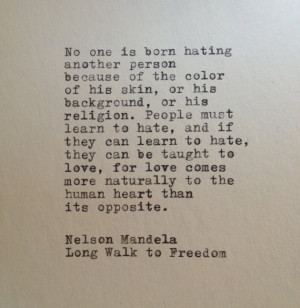 Nelson Mandela Quote Typed on Typewriter