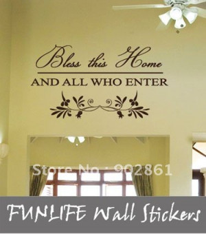 ... vinyl Bless this Home Wall Quotes Lettering Window Wall Stickers/Wall