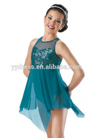 Beautiful Dress Sparkling Sequin Bodice Lyrical Dress for Costume Girl