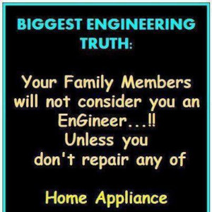 repair home appliances to be an engineer