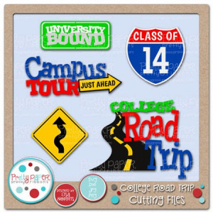 College Road Trip Clipart Be off to college soon.