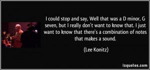 More Lee Konitz Quotes