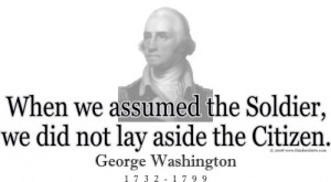 Design #GT176 George Washington -When we assumed the Soldier