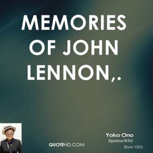 Memories of John Lennon,.