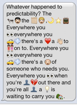 Relationship Quotes With Emojis Reenacted in emojis,