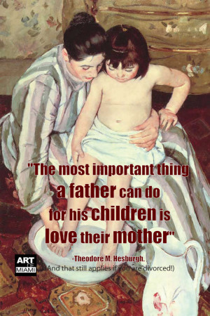 divorced mother's day quote by Bath Mary Cassatt