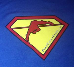 Pole Vault Shirts Superman pole vault shirt