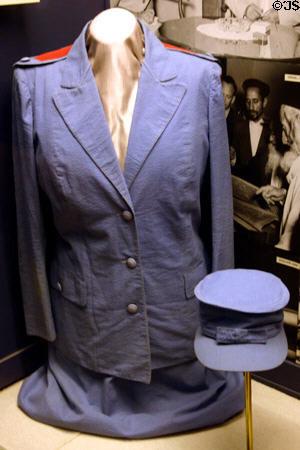 Red Cross uniform worn by Eleanor Roosevelt during WW II. Hyde Park ...
