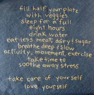 Take Care and Love Yourself...
