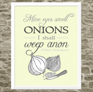 Shakespeare Quote Art for Kitchen Typography Print - Kitchen Art ...