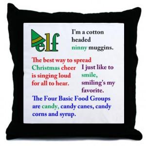 Cute pillow. Fun quotes from Elf. $20.00 #elf #elfthemovie # ...