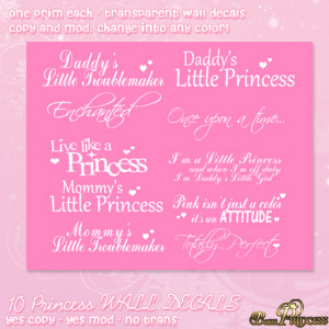 Princess Quotes Wall Decals ♥