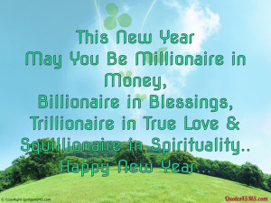 This New Year, May You Be Millionaire in Money...