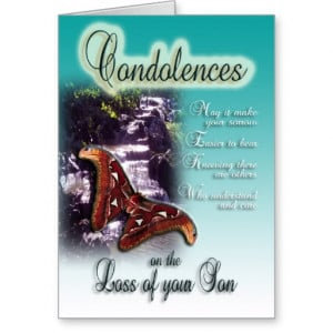 Loss of Son - Condolences on your loss Cards
