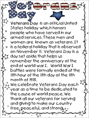 Free Happy Veterans Day Poems Printable 2014