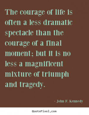 ... ; but it is no less a magnificent mixture of triumph and tragedy