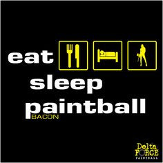 ... of the day - bacon goes well with everything. #paintball #paintballing