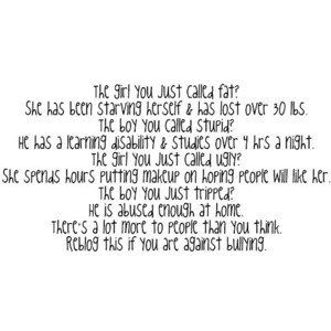 Sad Bully Quotes Tumblr Tagged Think Before You Say