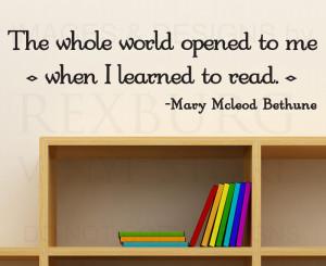 ... Sticker Quote Vinyl Art Reading Books School Classroom Story time S33