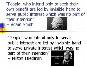 authenticity of the Friedman's quote is unconfirmed and may have ...