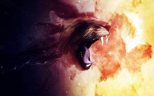 Roaring Lion Art HD Wallpaper #6438