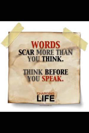 Choose your words wisely.