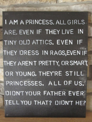 Princess Quote Sign by kacimari on Etsy. $30.00, via Etsy.