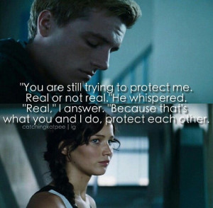 Katniss and Peeta Mockingjay Part 1