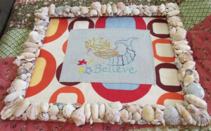 Mermaid Believe embroidered sea quote in seashell by paintallday, $58 ...