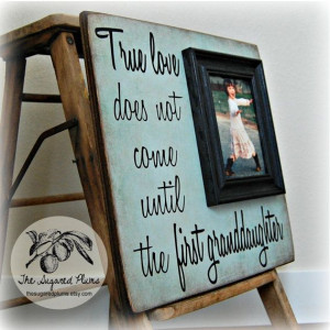 Granddaughter Gift Picture Frame First by thesugaredplums on Etsy, $75 ...
