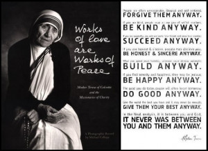 mother teresa quote do it anyway | Mother Teresa Quotes