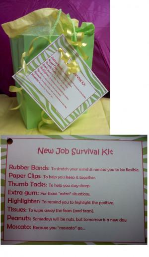 survival survival kits gift ideas new job gift work survival kit ...