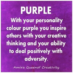Purple With Your Personality Colour Purple You Inspire Others With ...