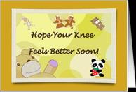 Get Well Soon Knee Surgery Teddy Bears card - Product #866022