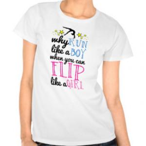 Flip Like a Girl Gymnastics Shirt