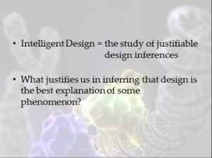 ... William Dembski in his book The Design Inference , published by