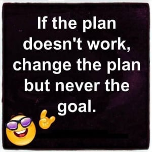 Change the plan.