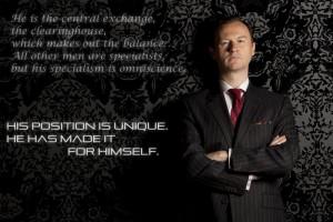 Sherlock on BBC One Mycroft