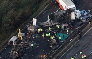The recent London car pileup that saw 34 cars being crashed into each ...
