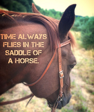 Saddle Time. Horse Quote.