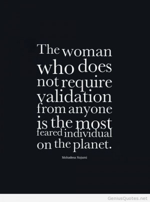 Validation of a women quote